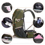 Trekking backpack with rain cover