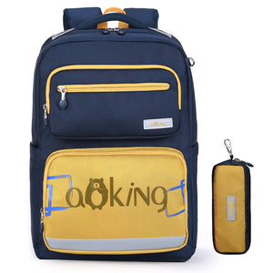 Aoking New Arrival School Backpack With Pencil Case Daily Backpack For Boy And Girls Travel Backpack With Reflective Strip