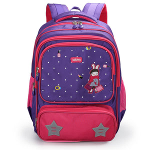 Aoking School Backpack for Kids Leisure Cute Animal Printing Primary Waterproof Nylon Backpack with Reflective Strip