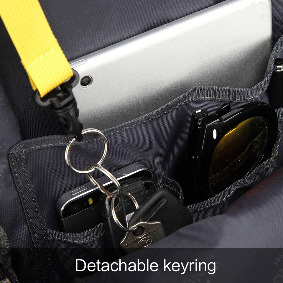 School bag with key ring holder