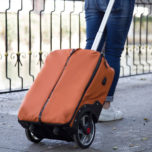 Durable rolling suitcase with 12cm wilder large wheels