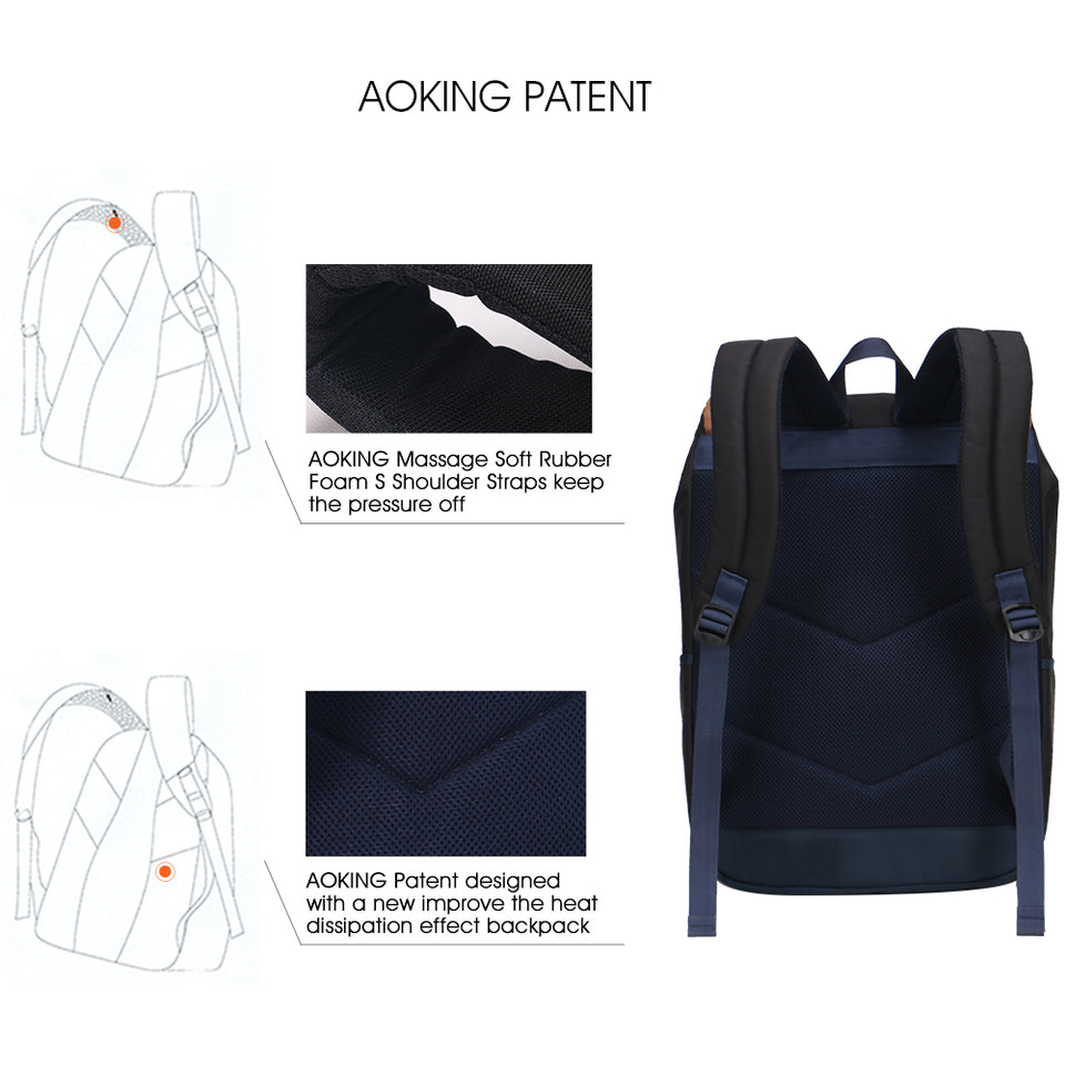 Simple design school bag