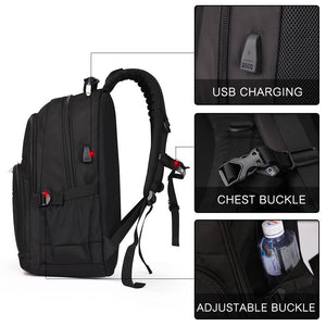 Travel backpack with external USB port
