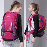 Trekking backpack with durable zipper