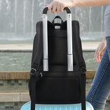 Anti theft travel bag with back tie strap