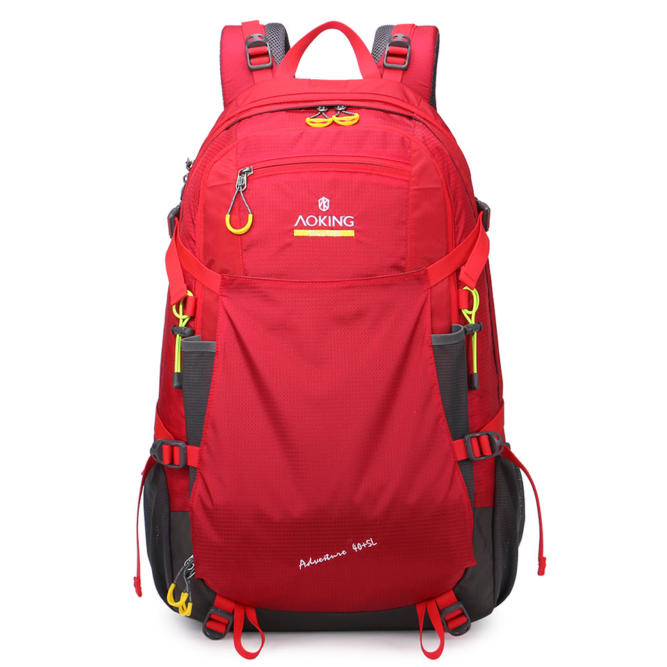 Hiking backpack with external headphone port