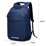 Spacious business backpack with external USB port