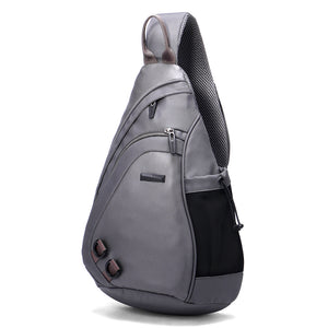 Aoking New Fashion Water Shape Chest Bag Large Capacity Men Sling bag Waterproof Travel Daily Cross-body Bag Shoulder Bag