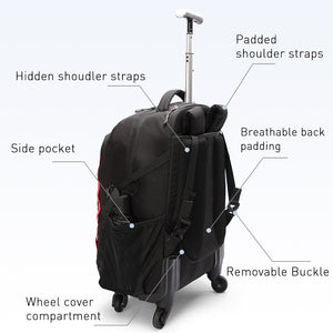 Trolley bag with spinner wheels