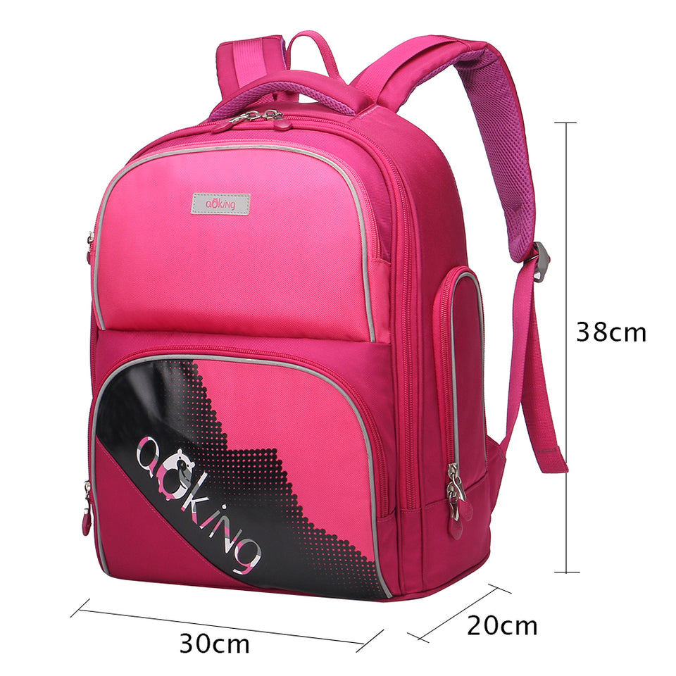 Aoking Lightweight Children Cute School Backpack for Boy and Girls Nylon Waterproof Casual Embroidery Backpack Cartoon