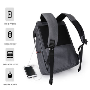 Anti theft business bag with back tie strap