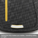 Teenager bag with reflective strip