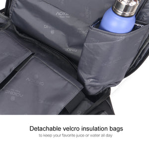 Business bag with a detachable Velcro insulation pocket