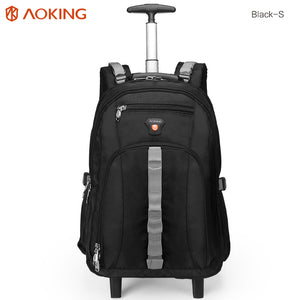 Travel bag with external headphone port for listening music