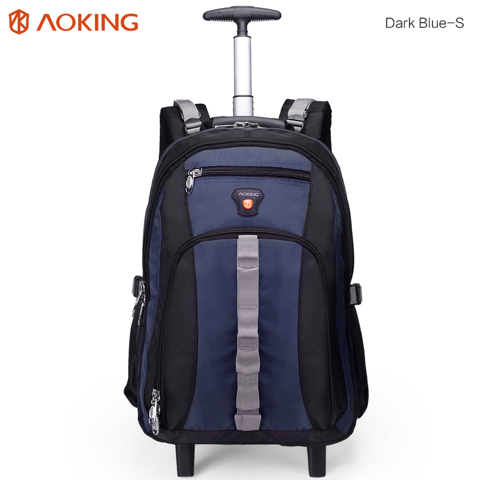 Bartack stitch trolley backpack for men and women