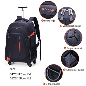 Large capacity trolley backpack for 16 inches laptop
