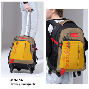 Wear-resisting rolling backpack