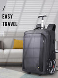 Large capacity trolley backpack for 17 inches laptop