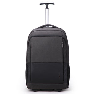 Men carry-on wheeled rolling suitcase