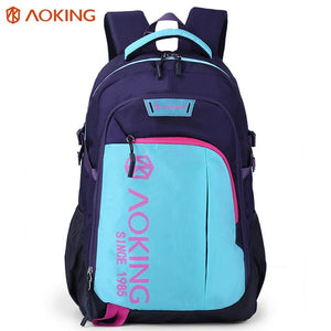 Aoking Women Men Leisure Travel Backpack School Laptop Bag Fashion Polyester Rucksack