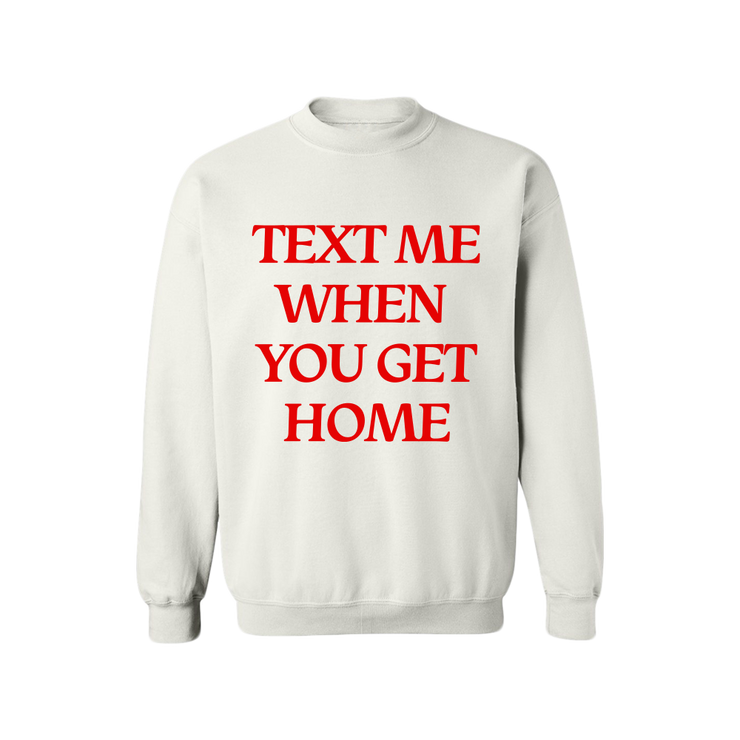 Text Me White Crewneck