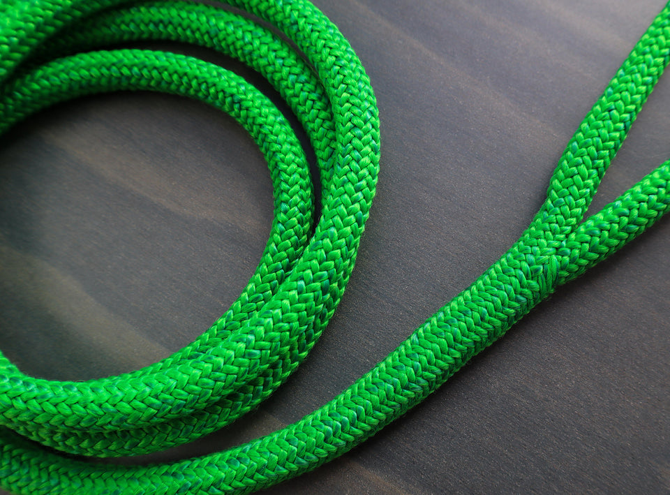 Green Premium Rope Dog Leash-NZ made Dog Leads-Woofo Empawrium