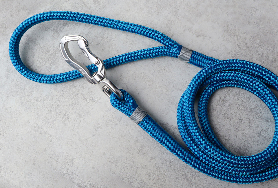 Grey & Blue Rope Dog Leash