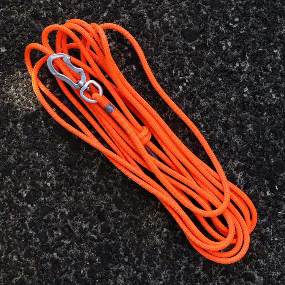 Grey & Fluro Orange Long Line - 5m