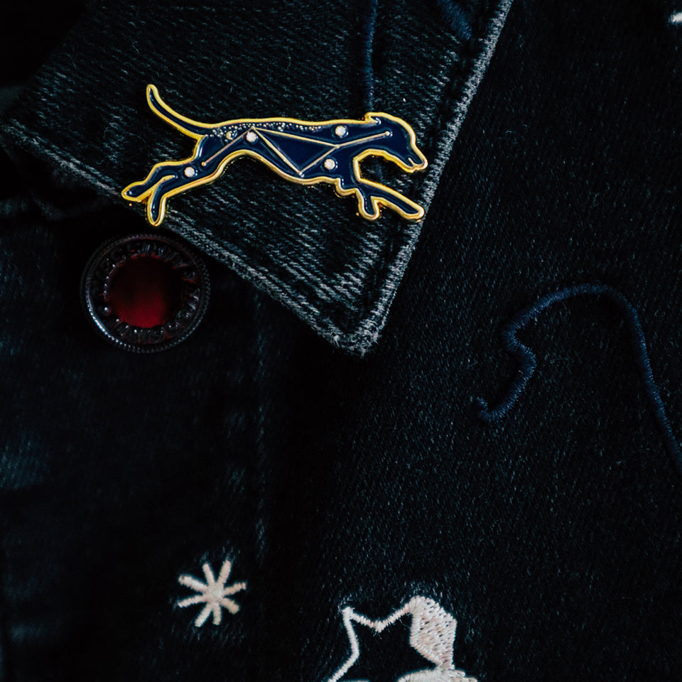 Hound Star Sign Enamel Pin