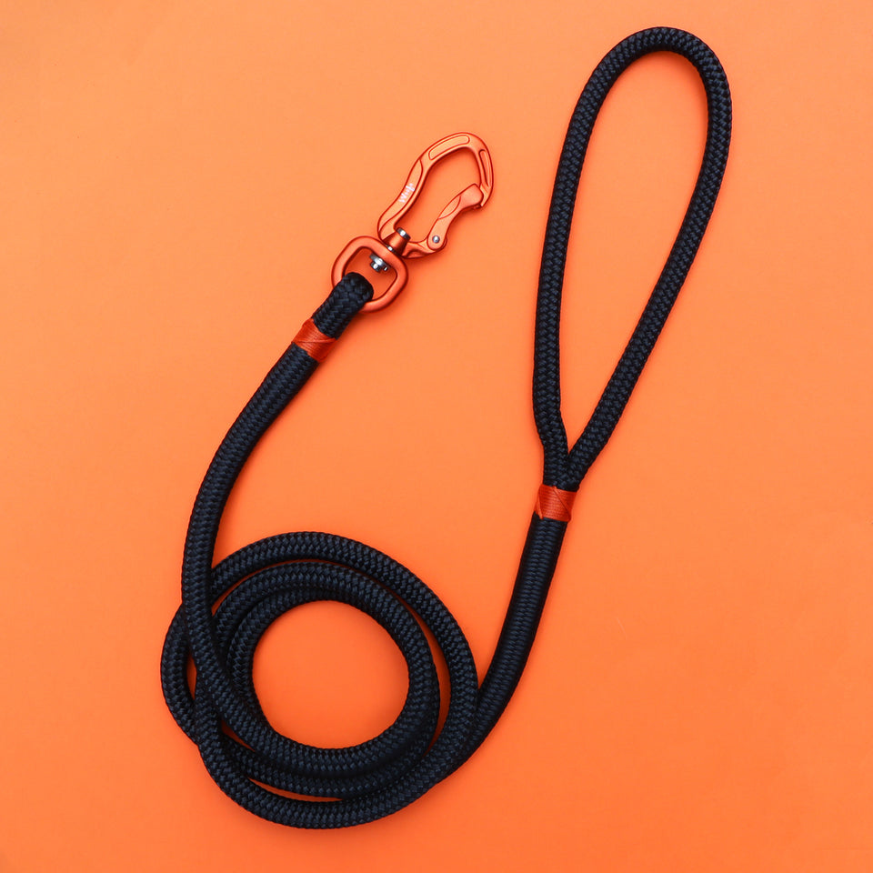 Orange & Black Rope Leash