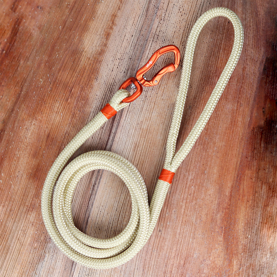 Orange & Champagne Rope Leash