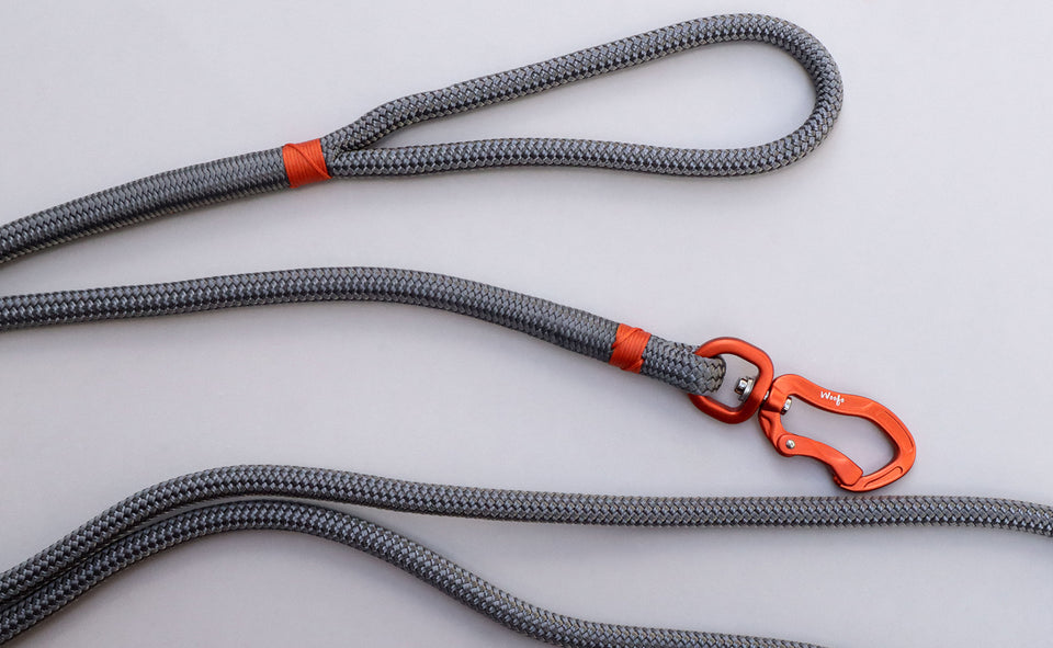 Orange & Grey Rope Leash