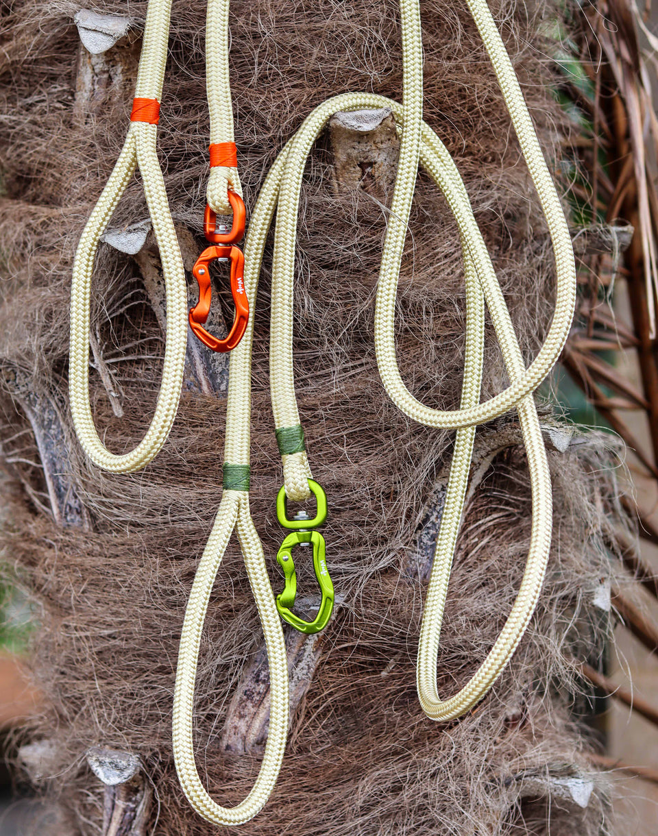 Olive & Champagne Rope Leash