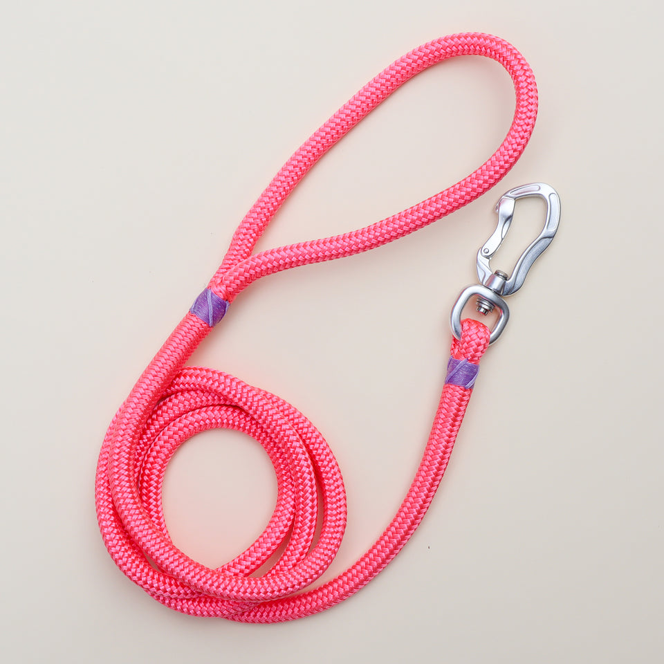 Pink Lilac Rope Dog Leash