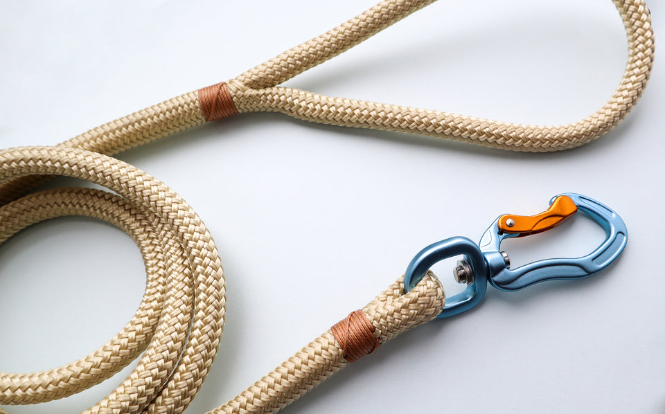 Woofo Champagne Rope Leash-NZ made Dog Leads-Woofo Empawrium