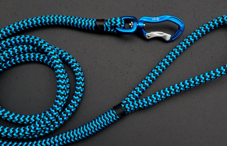 Zippy Blue Rope Leash