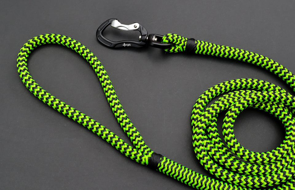 Zippy Green Rope Leash