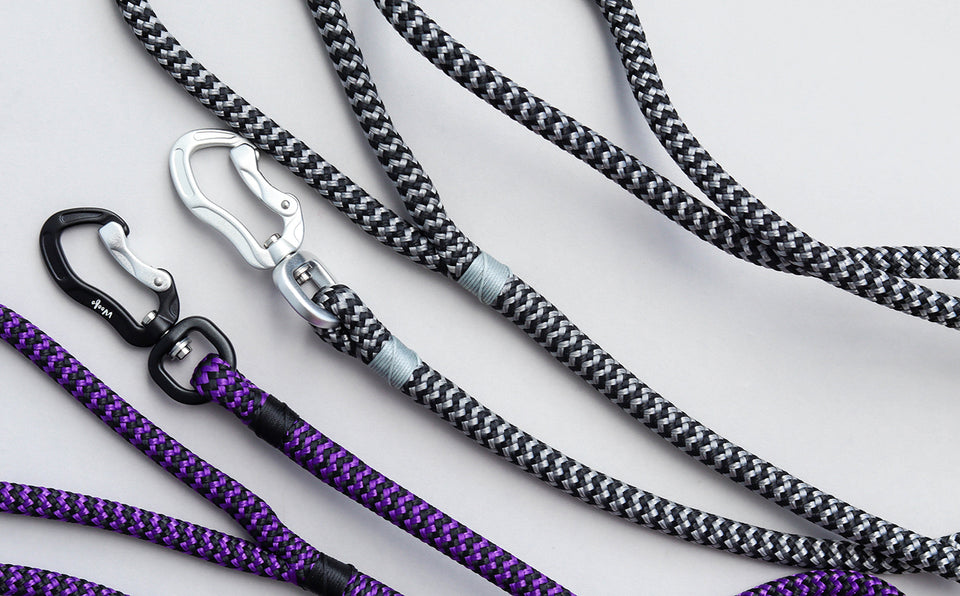 Zippy Silver Rope Leash