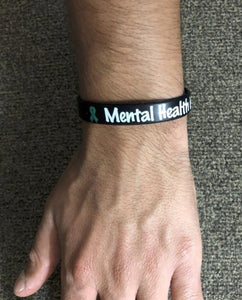 Mental Health is Not Taboo Green Ribbon Wristband