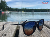 Hawaii Inspired Aloha Filtered Sunglasses on Summer Dock ~ FLTRglasses.com