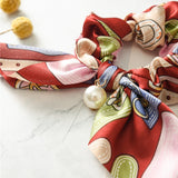 PEARLY LOVE Silk Scrunchies With Pearls - EleganziaToYou