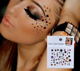 Face and eyes round multicolor gem stickers - EleganziaToYou
