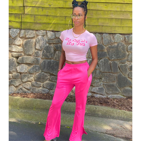 Image of Hot Pink Flare Pants