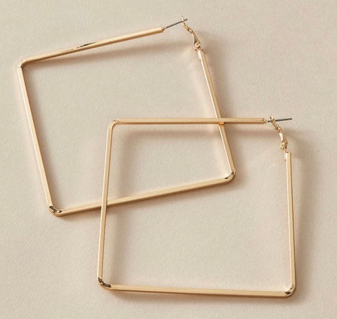 Image of Square Biz Hoops