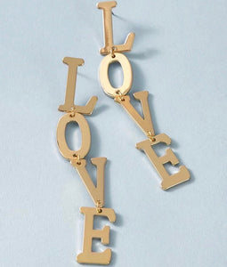 L O V E  Letter Drop Earrings
