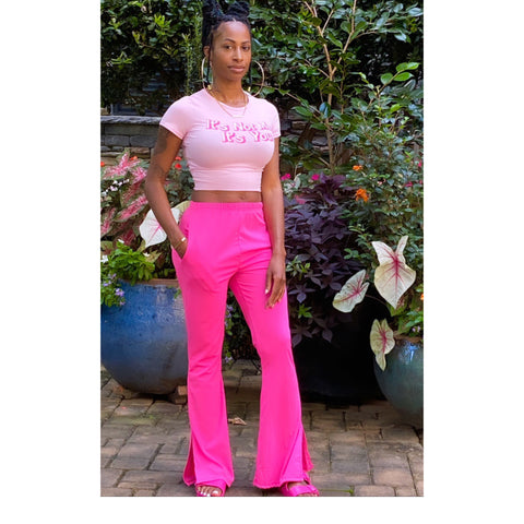 Hot Pink Flare Pants | Available 8.7.20