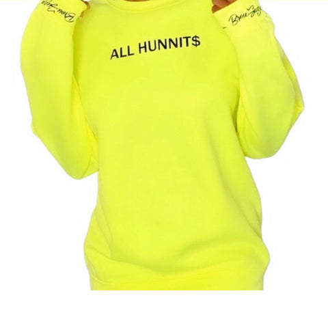 Lime All Hunnit$ Sweater