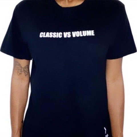 Classic vs Volume t-shirt navy blue
