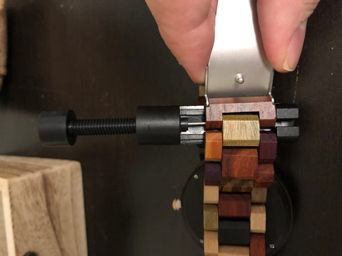 wooden watch link removal