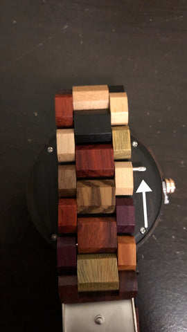installing a new link on wood watch